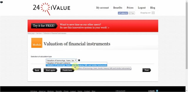 Valuation of financial instruments