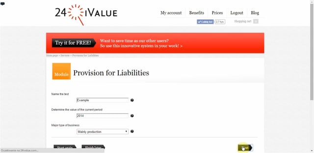 Provision for Liabilities