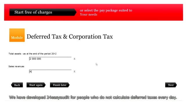 Deferred Tax & Corporate Tax